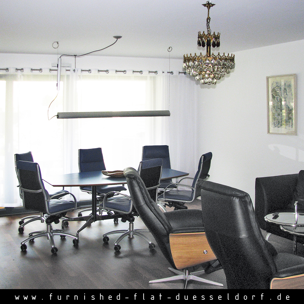 Furnished apartment in Duesseldorf - Living Room